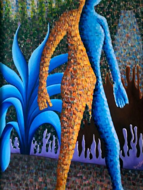 El Caminante, Obra de la artista plástico Yolanda Corona