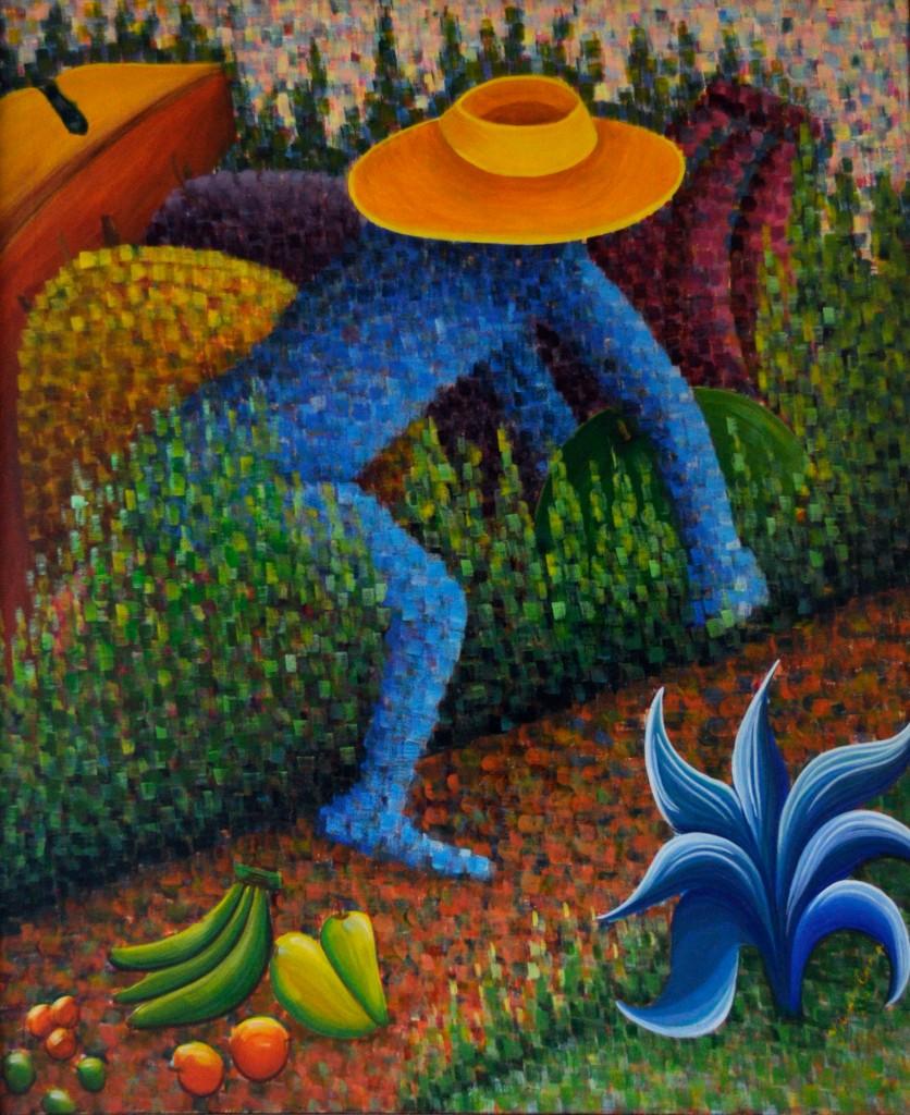 La Cosecha del Camino, obra de la artista plástico Yolanda Corona