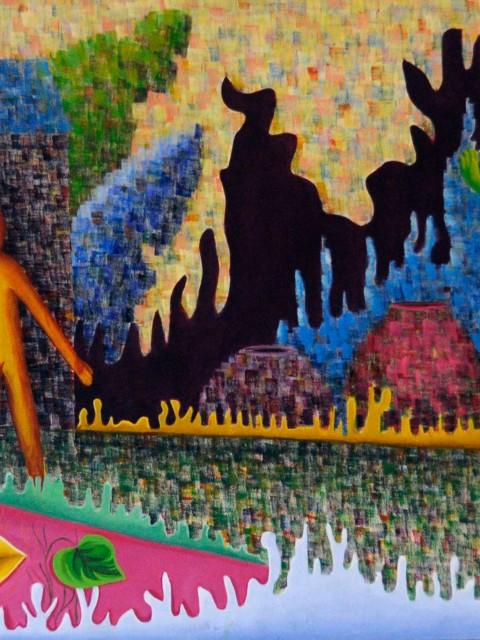 La despedida, obra de la artista plástico Yolanda Corona