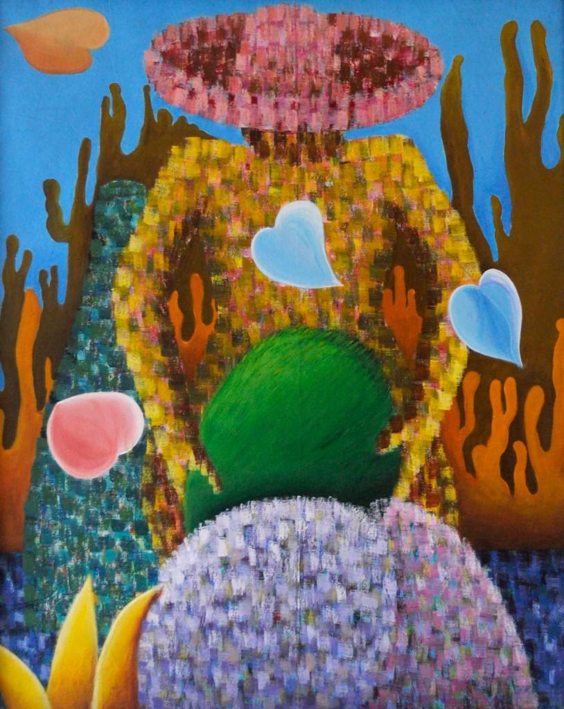 Arreando Cocos, Obra de la Artista Plástico Yolanda Corona
