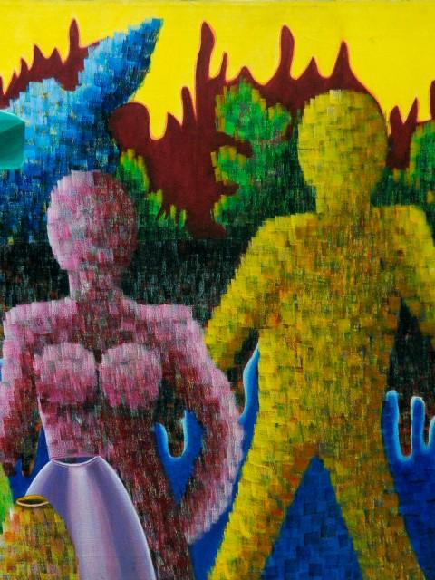 Familia, Obra de la artista plástico Yolanda Corona