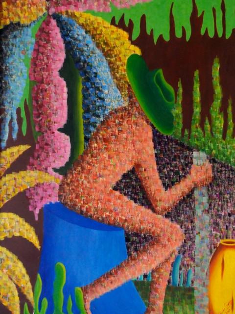 El descanso del Caminante, obra de Yolanda Corona